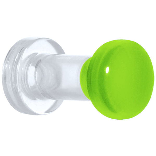 6 Gauge Green Neon Acrylic Screw Fit Plug