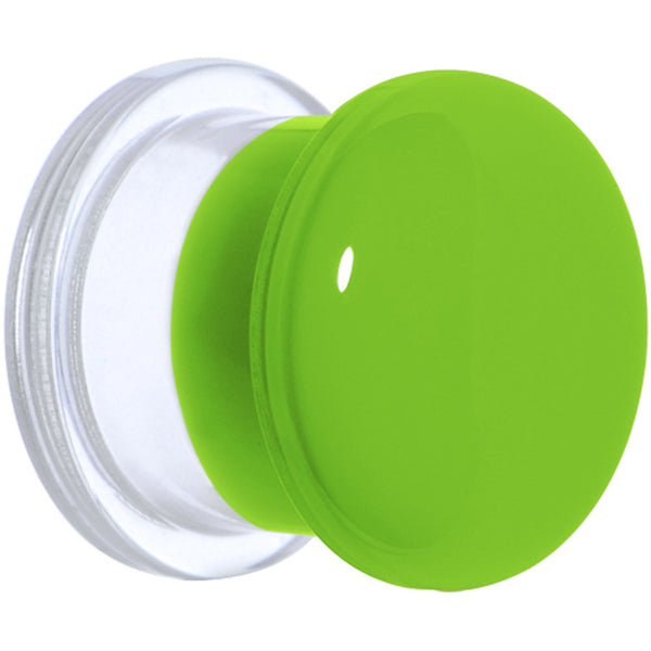"1/2"" Green Neon Acrylic Screw Fit Plug"