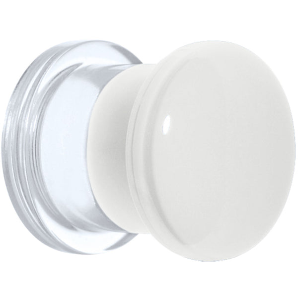 00 Gauge White Neon Acrylic Screw Fit Plug