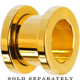 0 Gauge Gold Plated Screw Fit Tunnel