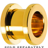 00 Gauge Gold Plated Screw Fit Tunnel