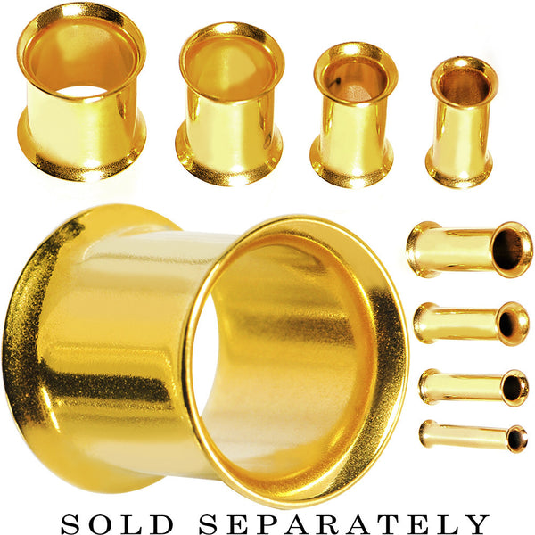 8 Gauge Gold Plated Double Flare Tunnel