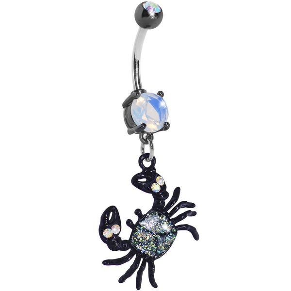Clear Gem Crab Dangle Belly Ring