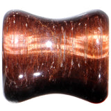 00 Gauge Red Tiger Eye Natural Stone Plug