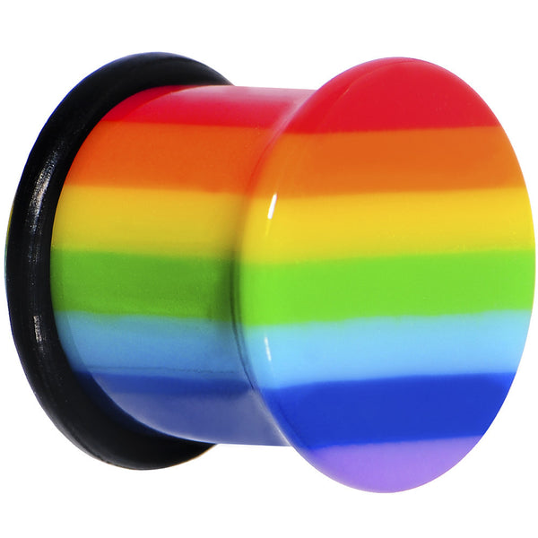 "1/2"" Acrylic Rainbow Pride Top Hat Plug"