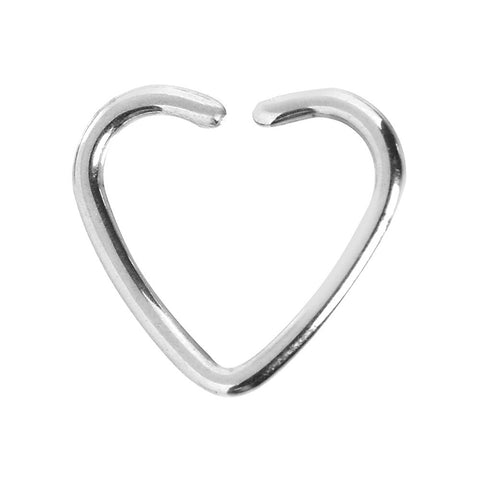 Stainless Steel Hollow Heart Closure Daith CartilageTragus Earring