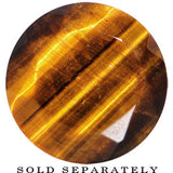 "5/8"" Tiger Eye Semi Precious Stone Faceted Double Flare Plug"