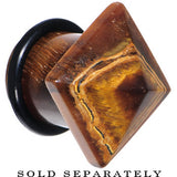 "1/2"" Tiger Eye Semi Precious Stone Pyramid Top Plug"