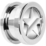 00 Gauge Stainless Steel Star Screw Fit Tunnel