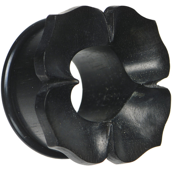 1 inch Hand Carved Organic Areng Ebony Wood Flower Tunnel