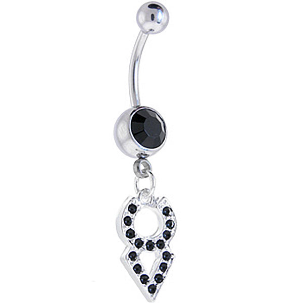 Midnight Gem TAURUS Zodiac Sign Dangle Belly Ring