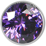 "7/16"" Tanzanite Purple Stainless Steel Pressed Fit Gem Tunnel"