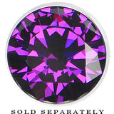 13mm Tanzanite Purple Stainless Steel Pressed Fit Gem Tunnel
