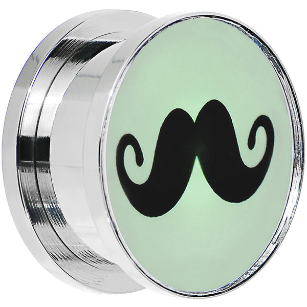 "3/4"" Stainless Steel Mustache Light Up Plug"