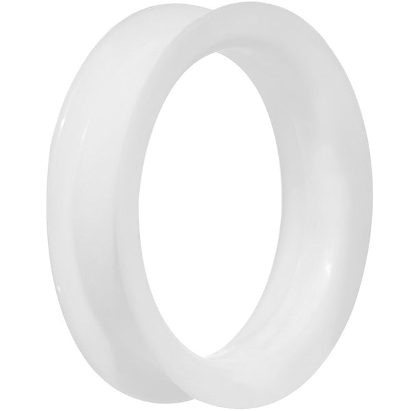 45mm White Ultra Soft Double Flat Flare Silicone Tunnel
