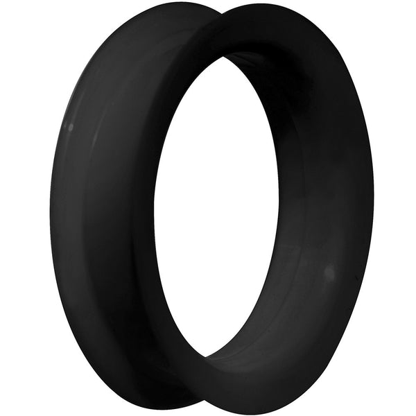 42mm Black Ultra Soft Double Flat Flare Silicone Tunnel