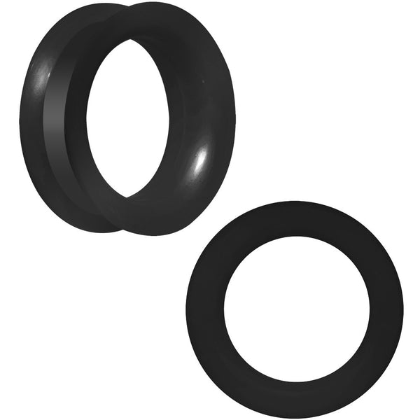 28mm Flexible Black Silicone Tunnel Plug Set
