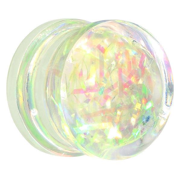 "9/16"" Pastel Green Glitz Glitter Saddle Plug"
