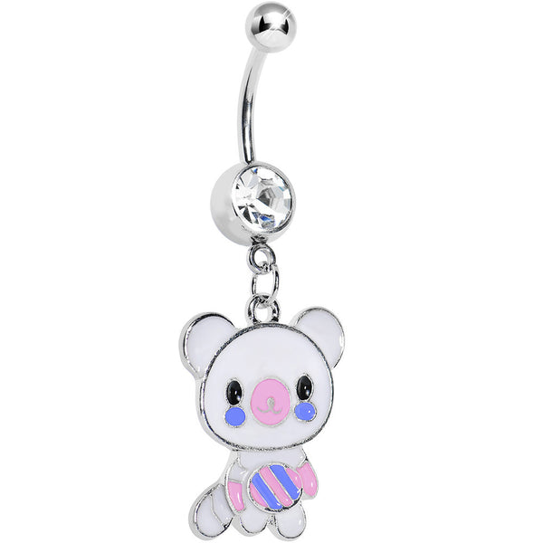 Crystalline Gem Cutie Bear Belly Ring
