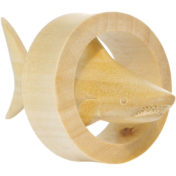 "1 3/4"" Crocodile Wood Shark Tunnel Plug"