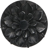 32mm Organic Black Wood Hand Engraved Flower Plug