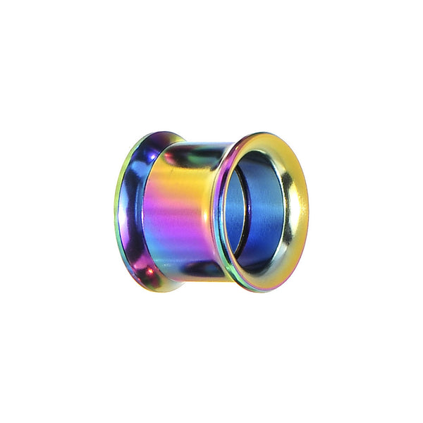 13mm Rainbow Titanium Double Flare Internally Threaded Tunnel