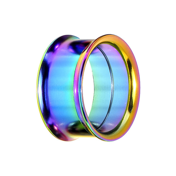 "7/8"" Rainbow Titanium Double Flare Internally Threaded Tunnel"