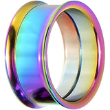 "1"" Rainbow Titanium Double Flare Internally Threaded Tunnel"