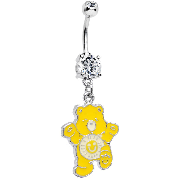 CARE BEARS Funshine Bear Belly Ring Officially Licensed