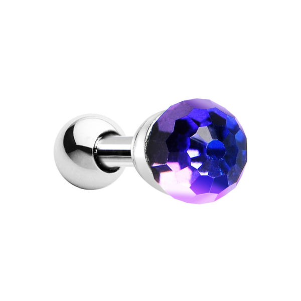 Silver 925 Heliotrope Crystal Ball Cartilage Tragus Earring