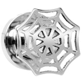 2 Gauge Stainless Steel Top Spider Web Tunnel Screw Fit Plug