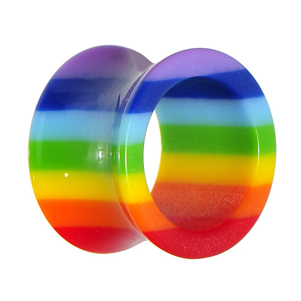 5/8 Acrylic Double Flare Rainbow Tunnel