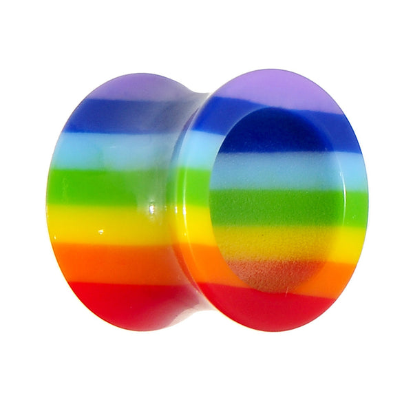 9/16 Acrylic Double Flare Rainbow Tunnel