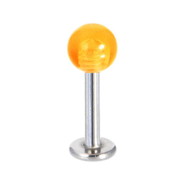 Orange Radiance Acrylic Ball Labret