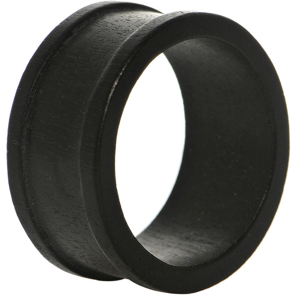 47mm Organic Black Wood Double Flare Tunnel