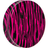 47mm Pink Acrylic Animal Print Double Flare Saddle Plug