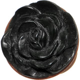 00 Gauge Organic Rose Iron Wood Flower Plug
