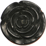 5/8 Organic Rose Iron Wood Flower Plug