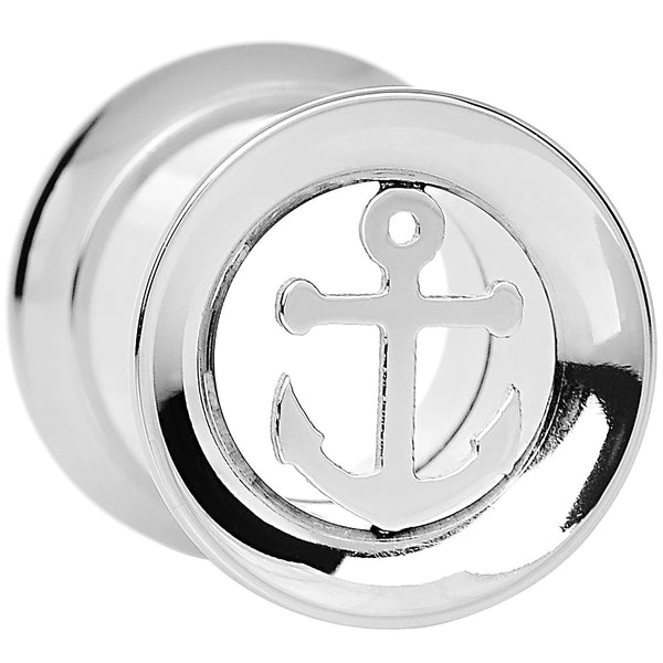 00 Gauge Steel Nautical Anchor Tunnel Plug