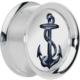 1'' Anchor's Away Reversible Mirror Screw Fit Plug