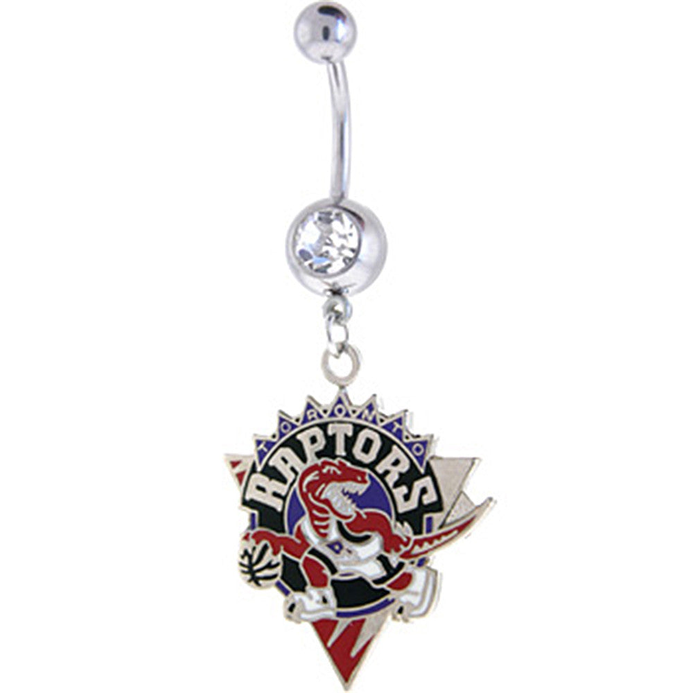 Nba Toronto Raptors Crystalline Gem Belly Ring