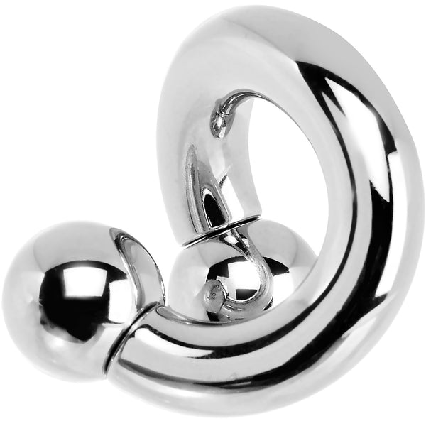 2 Gauge Stainless Steel 10mm Ball Internally Threaded Spiral Twister Ring- 1/2