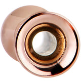 8 Gauge Rose Gold Plated Stainless Steel Tunnel Plug Set