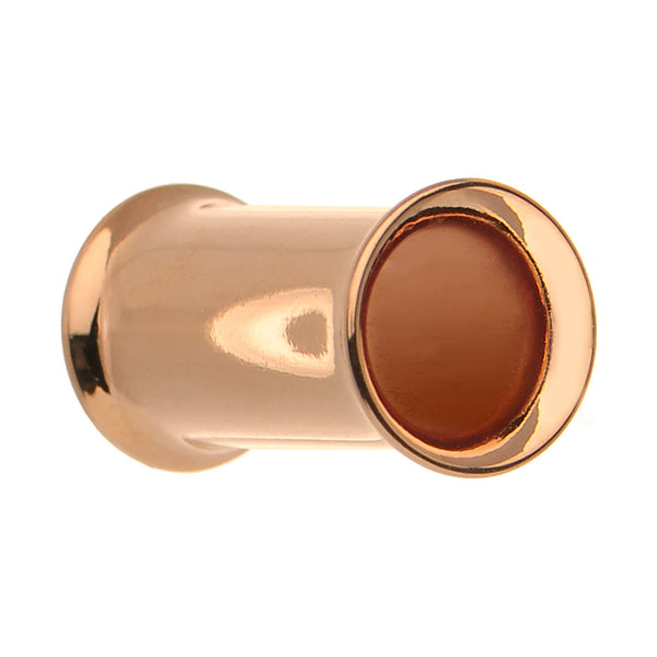 4 Gauge Double Flare Rose Gold Plated Hollow Tunnel Plug