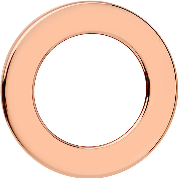 7/16 Rose Gold Plated Brilliant Screw Fit Tunnel Plug