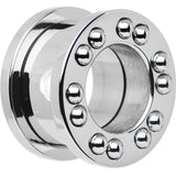 9/16 Stainless Steel Stationary Ball Bearing Screw Fit Tunnel Plug