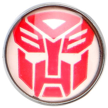 Stainless Steel Red White Licensed Autobot Transformer Barbell Tongue Ring