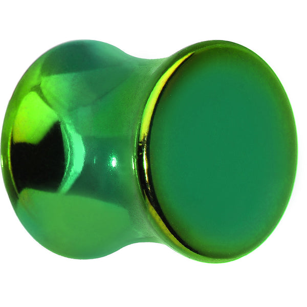 00 Gauge Grass Green Anodized Titanium Saddle Plug
