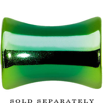 2 Gauge Grass Green Anodized Titanium Saddle Plug