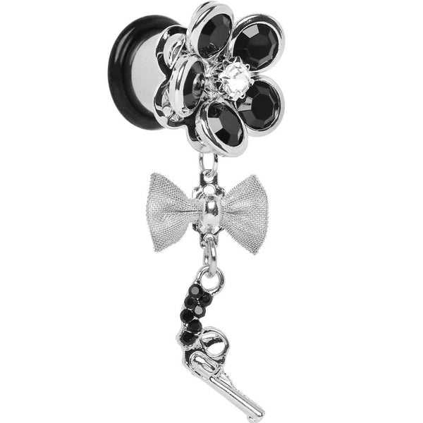 Black Gem My Lady Flower Gun Dangle Plug Sizes 5mm to 12mm